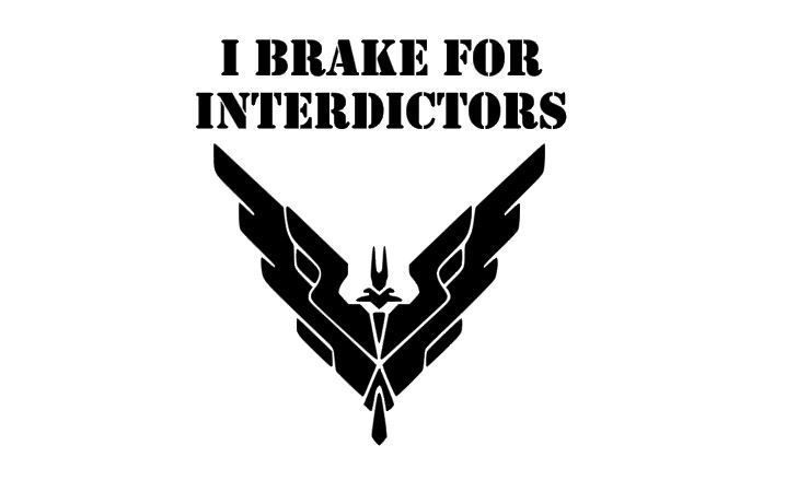 Elite dangerous i brake for interdictors car decal or laptop decal