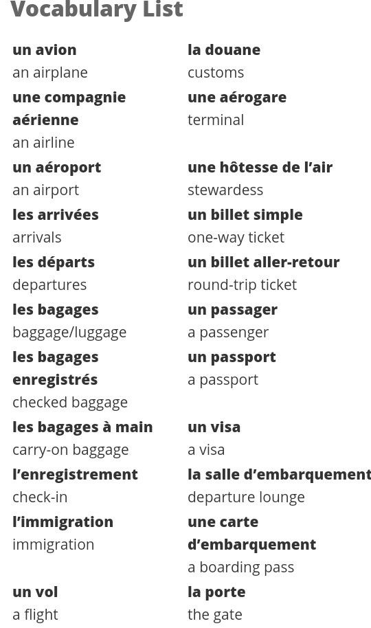 Chapter 8 This Are Some Airport Terms And There Translation To