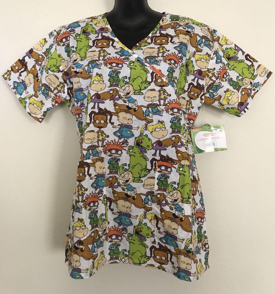 56d5c28d89c NWT Nickelodeon Rugrats Nurse Scrubs Top Women's Small/Large | Best ...