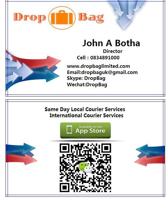 Professionally Designed Business Cards Delivered To You In 7 Days International Courier Services Day Courier Service