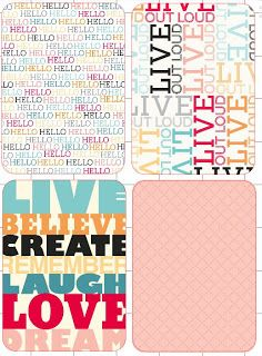 Free Printable Project Life Cards Colorful Scrapbooking Bilder