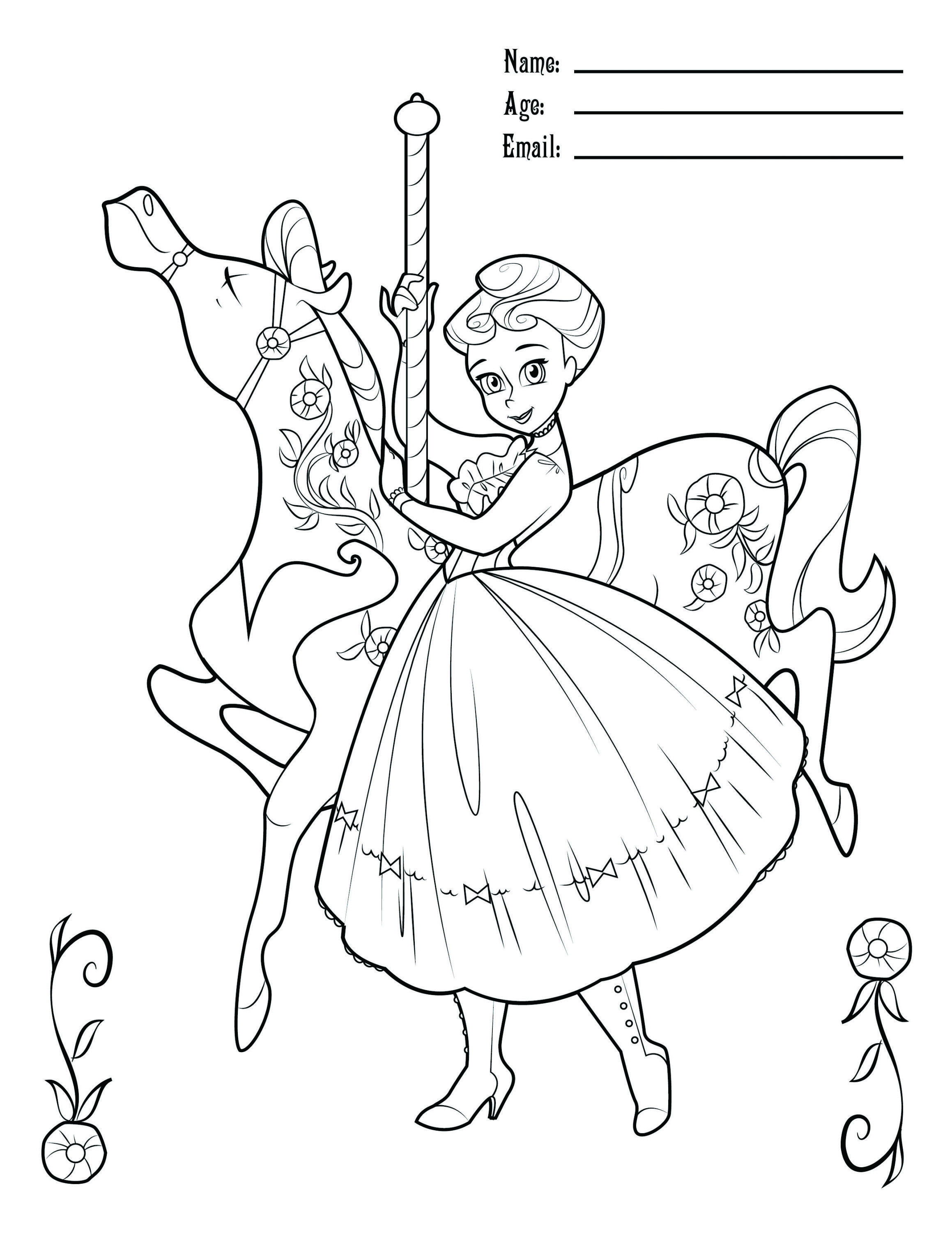 Carousel Coloring Contest Coloring Contest Cartoon Coloring