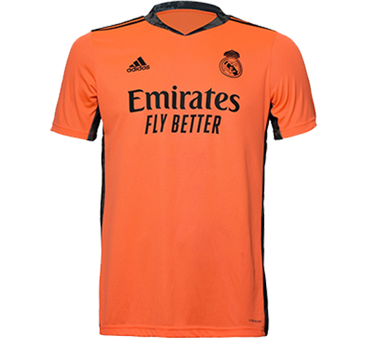 Custom Mens Real Madrid Away Goal Keeper Shirt 20 21 Coral In 2020 Real Madrid Goalkeeper Shirts Goalkeeper