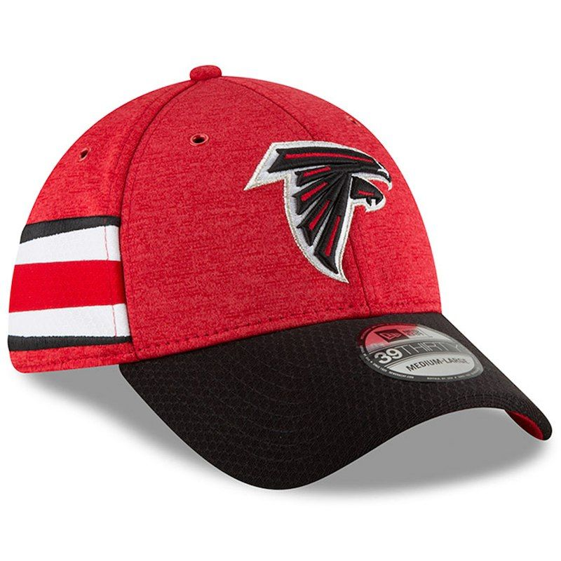 ba39868d5 Atlanta Falcons New Era 2018 NFL Sideline Home Official 39THIRTY Flex Hat –  Red/Black