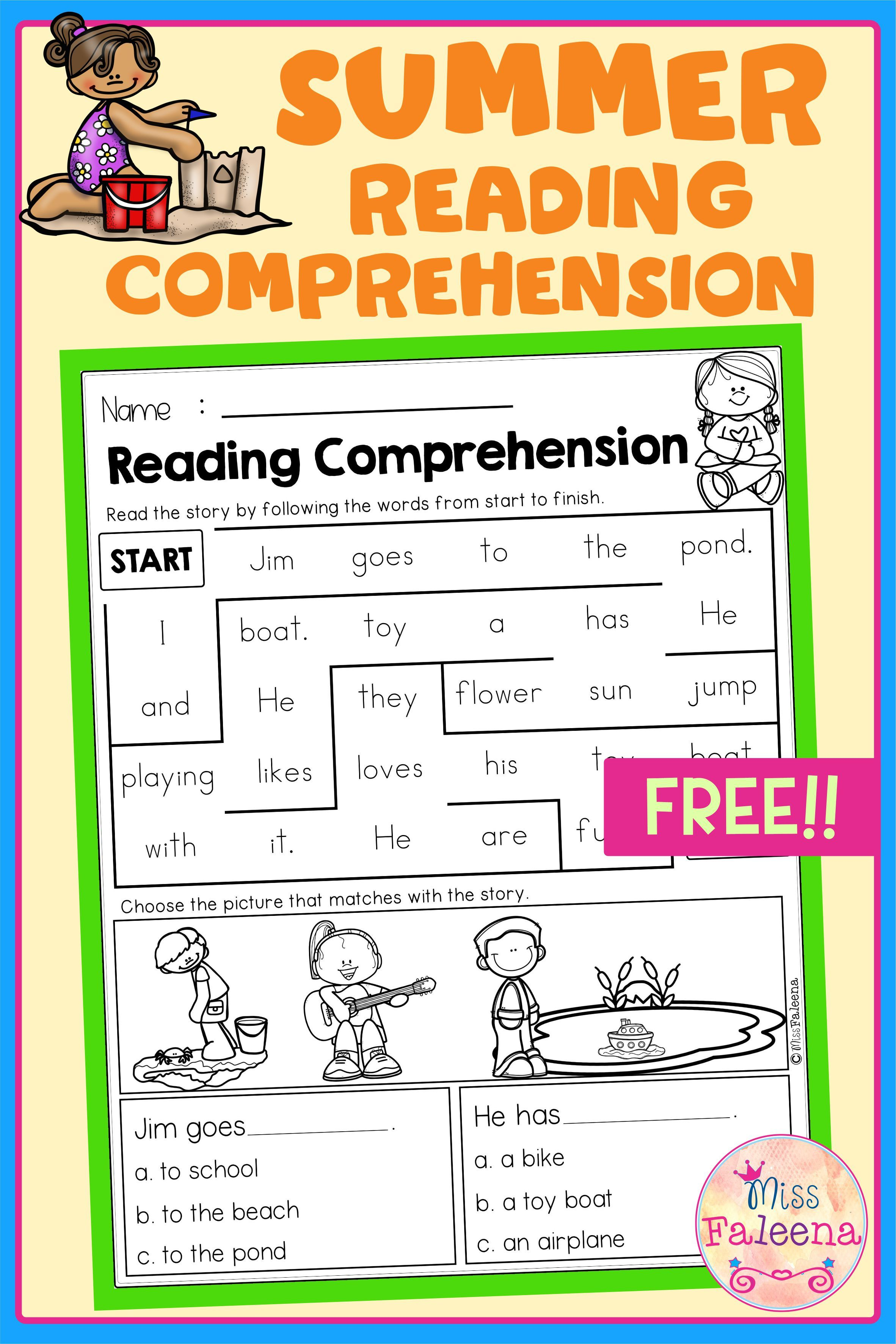 Free Summer Reading Comprehension In 2021 Summer Reading Comprehension Reading Comprehension First Grade Reading Comprehension [ 3544 x 2363 Pixel ]