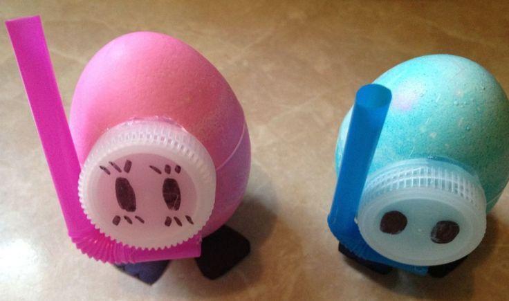 Scuba Dive Swap Using Easter Eggs Girl Scouts Swaps Pinterest
