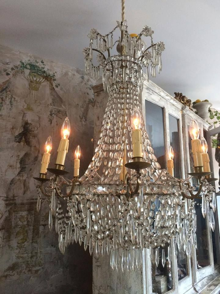 Love the juxtaposition of the crystal chandelier against the worn love the juxtaposition of the crystal chandelier against the worn plaster walls stunning aloadofball Images