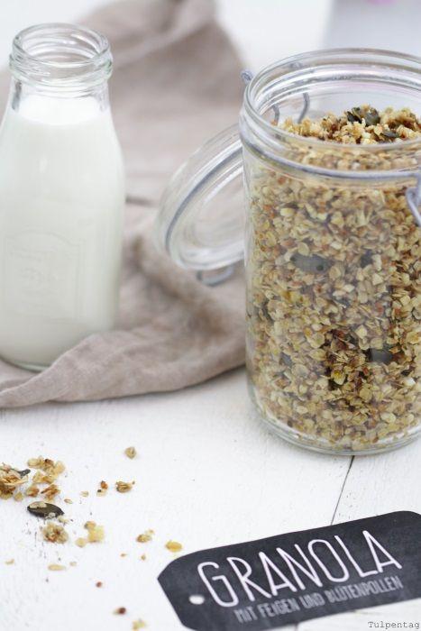 Granola mit Feigen und Blütenpollen - Tulpentag. Der Blog #knuspermüsli #rezept
