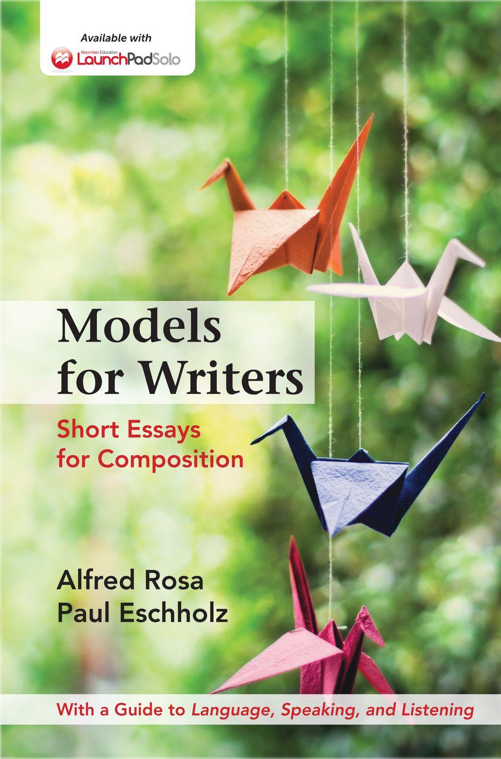 Models For Writers High School Edition Ebook Rental Short Essay Essay College Textbook