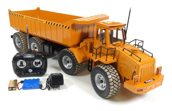 Refurbished Electric Dump Truck 1:10 Scale RTR RC Construction Vehicle