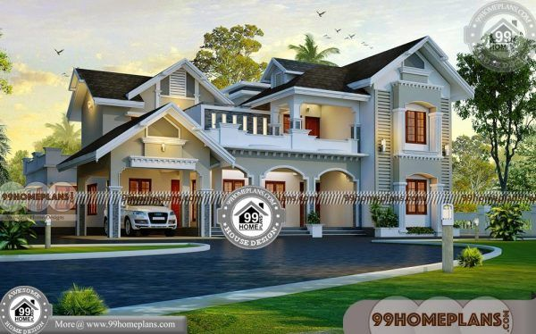 4 Bedroom Home Designs 2 Story House Plans With Exteriors Interiors Architect Design House House Design House Plans With Pictures 4 bedroom house indian style