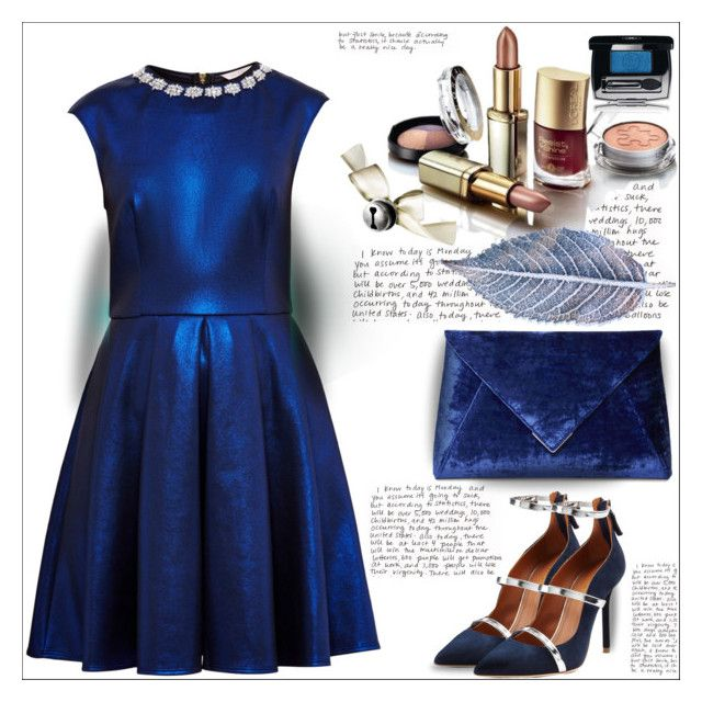 """""""Perfect Party Dress"""" by dragananovcic ❤ liked on Polyvore featuring Ted Baker and Malone Souliers"""
