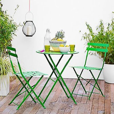 Outdoor green bistro garden set - cash on #collection or #local #delivery for fee,  View more on the LINK: http://www.zeppy.io/product/gb/2/252672541771/