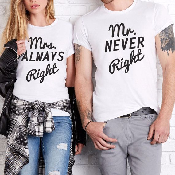 Couple T Shirts Set Mr And Mrs His Hers Wedding Gift Husband Wife Anniversary For Birthday Present