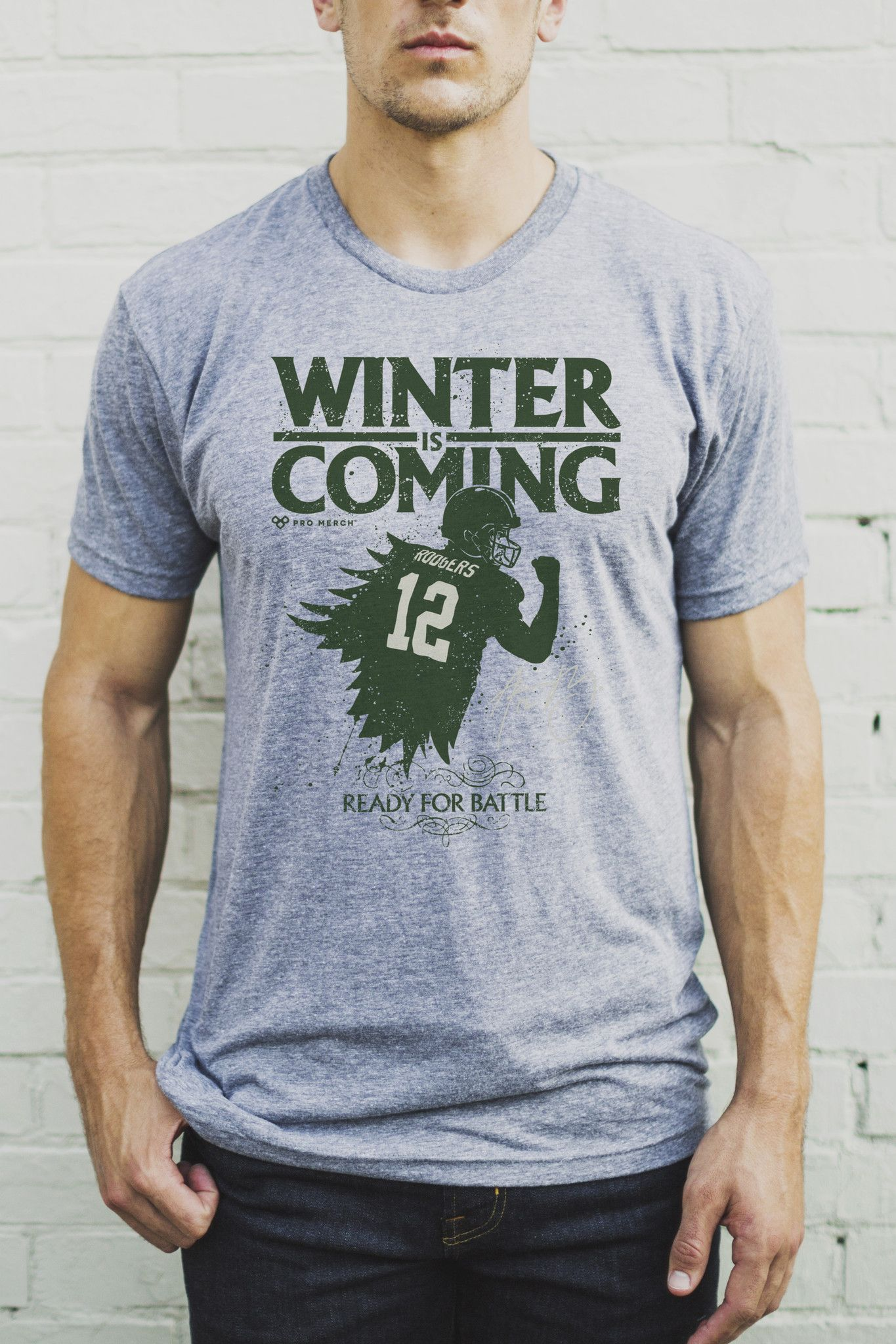 Aaron Rodgers Winter Is Coming Men S Crew Men Green Bay Packers Fans Aaron Rodgers