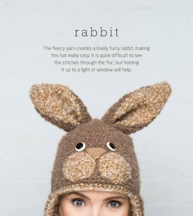 Conejo | Gorros animados. | Pinterest | Conejo y Gorros