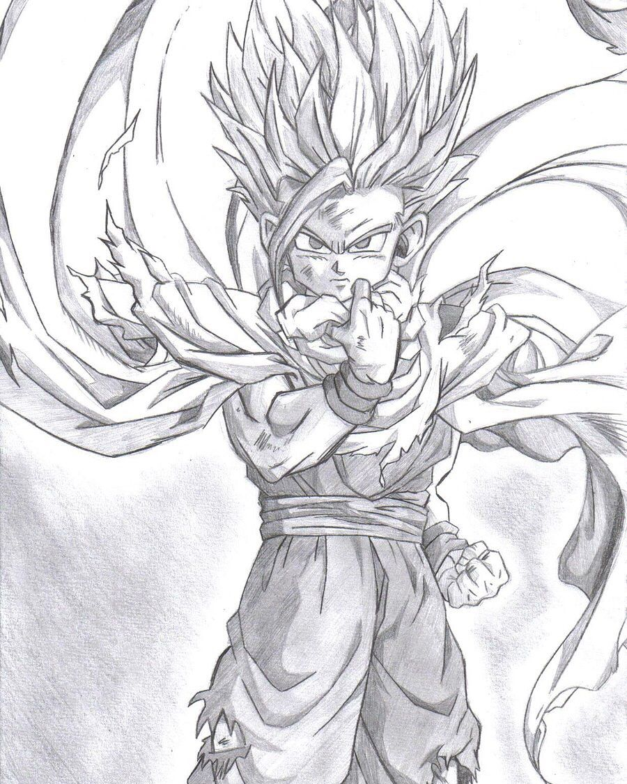 Gohan dragon dall z dbz drawings pencil drawings anime art manga anime