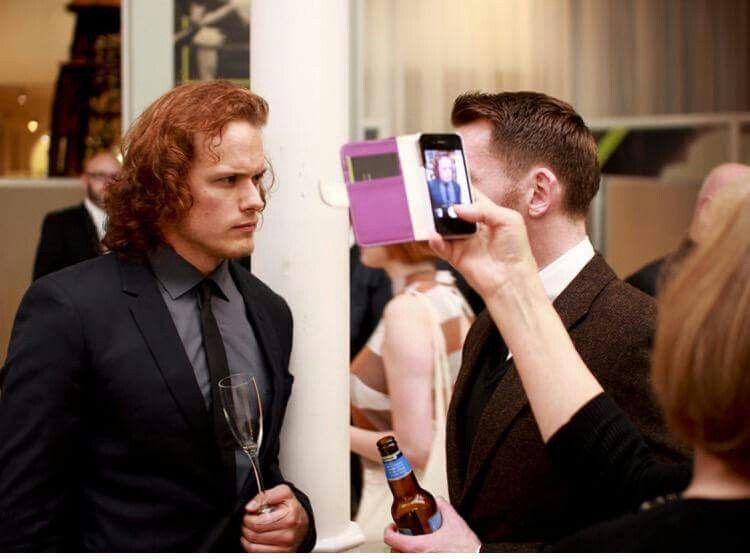 Sam's mom taking a pic of her boy!