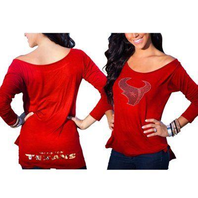 houston texans womens long sleeve shirts