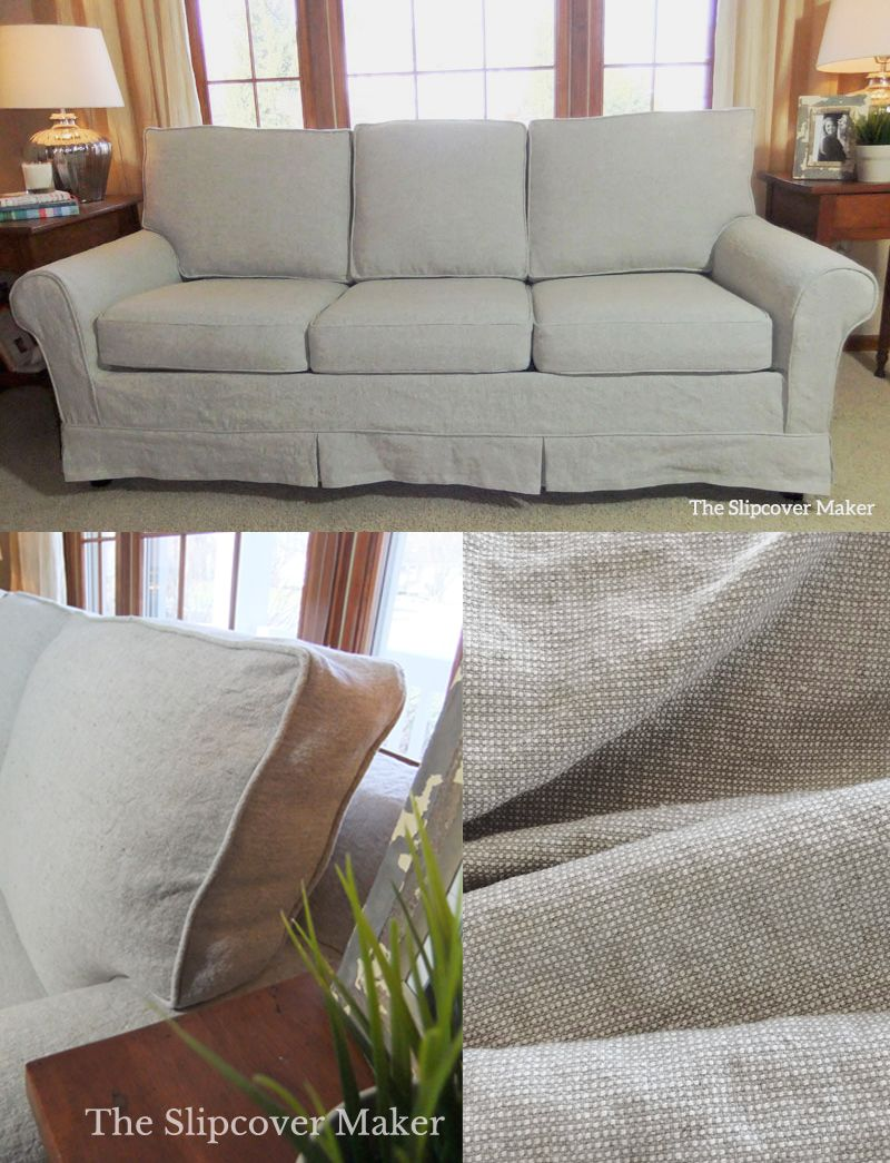 Linen Sofa Slipcover Makeover Slipcovered Sofa Linen Sofa