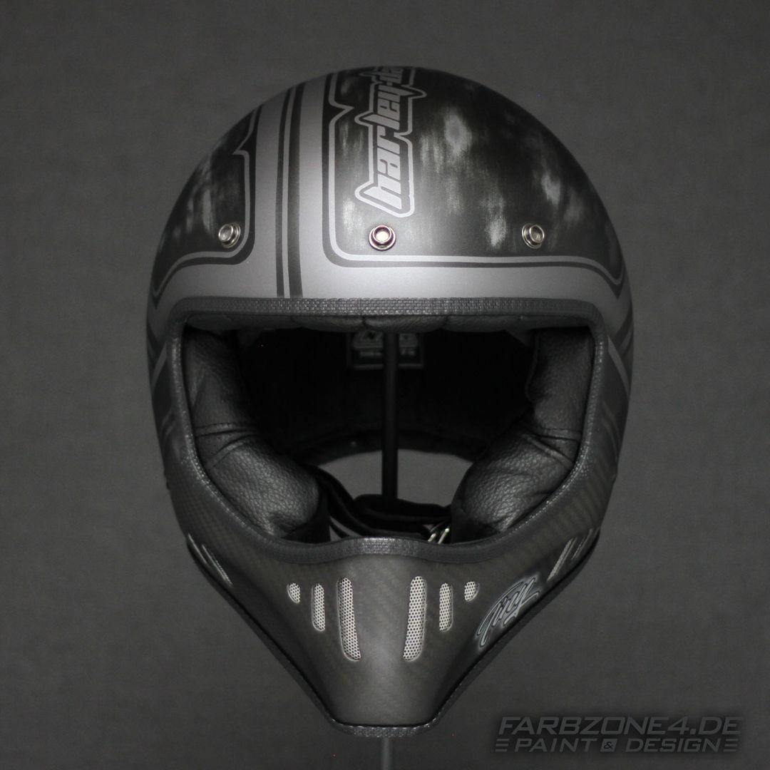 Nzi Design Airbrush Helmet Helm Motorcycle Motorrad Bobber