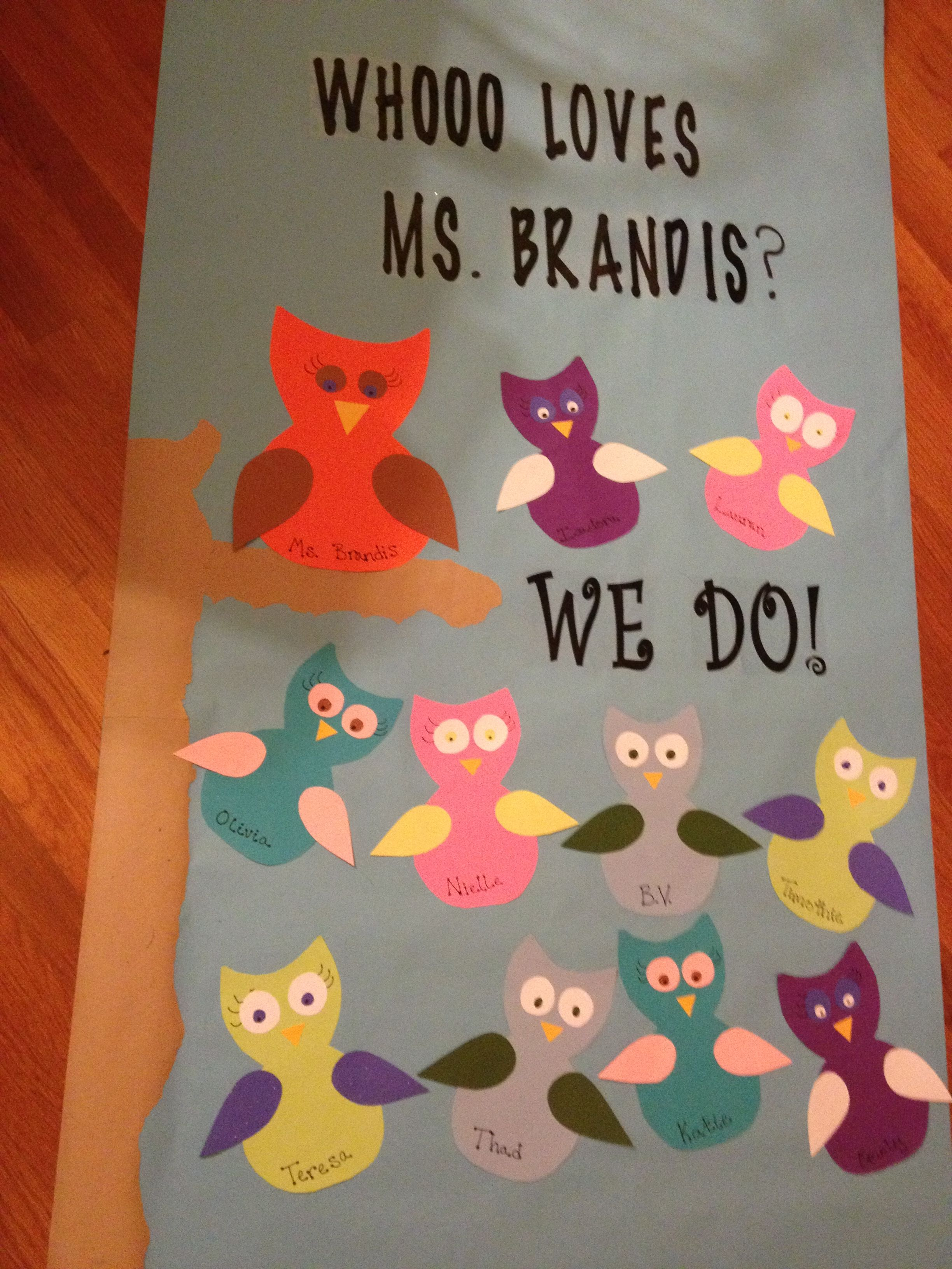 Teacher Appreciation Door Owl