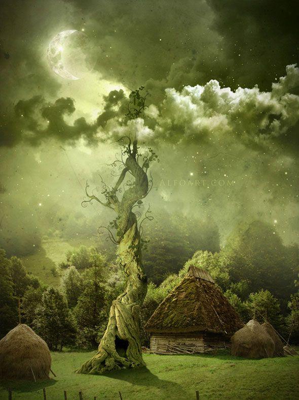 Рисуем сказочное дерево в Ps