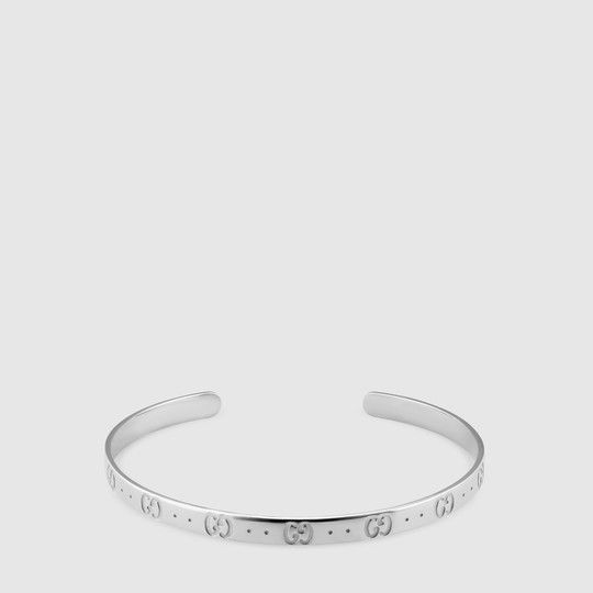 ee5611f678a Gucci Icon bracelet in white gold