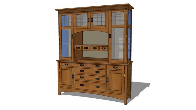 Arts And Crafts Mission China Cabinet Woodworking In An Apartment China Cabinet Cabinet Woodworking Plans
