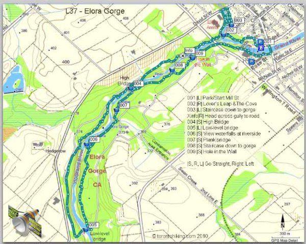 Elora Ontario Map Elora Gorge Conservation Area – Elora Cataract Trailway – Hiking