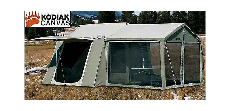 Kodiak Canvas Cabin Tent With Awning At Cabelas