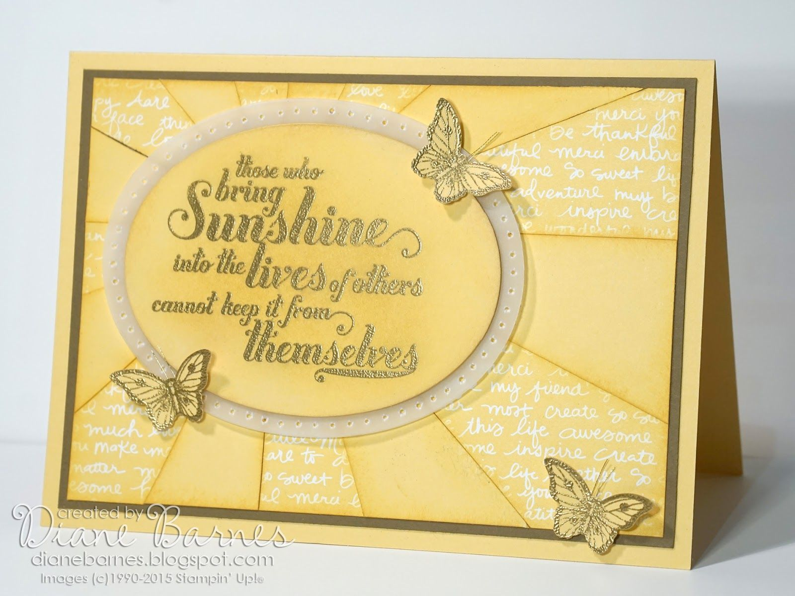 Just because - all occasions full sunburst card with cutting ...