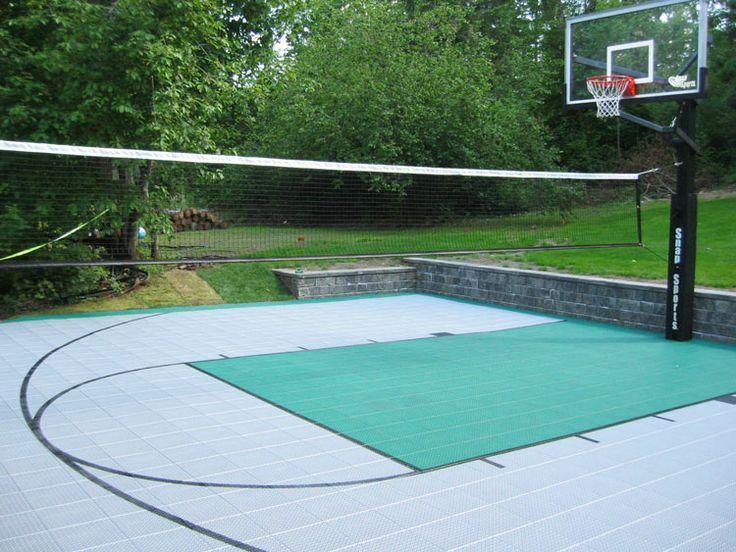 Backyard Volleyball Court Basketball court backyard