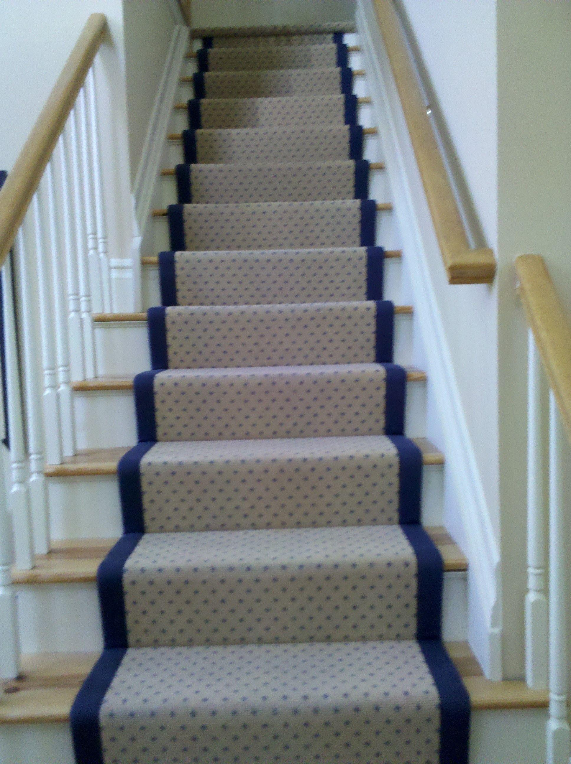 Best Helios Wool Carpet Stair Runner In Classic Pindot Pattern 640 x 480