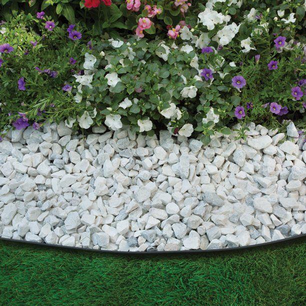 EasyFlex No-Dig Edging 30 ft. Kit, Black, For Lawns & Flowerbeds - Walmart.com