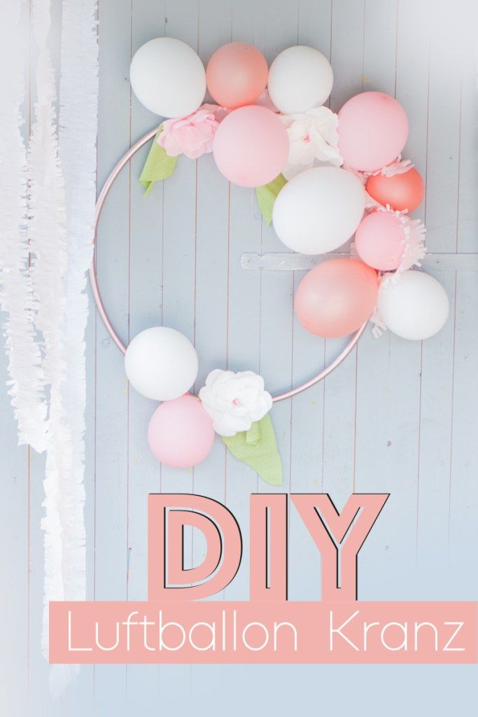Diy Luftballonkranz Hoolahoop Geburtstag Kindergeburtstag