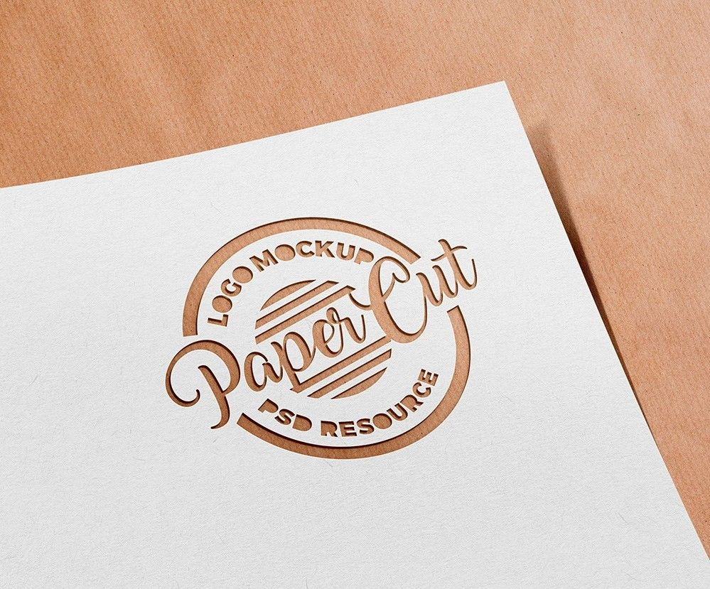 Paper Cutout Logo Mockup Freebies Fribly Free Logo Mockup Logo Mockup Paper Logo