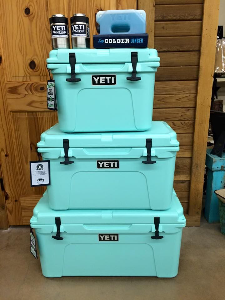 Green Styrofoam Coolers ~ Seafoam green yeti coolers beach pinterest cooler