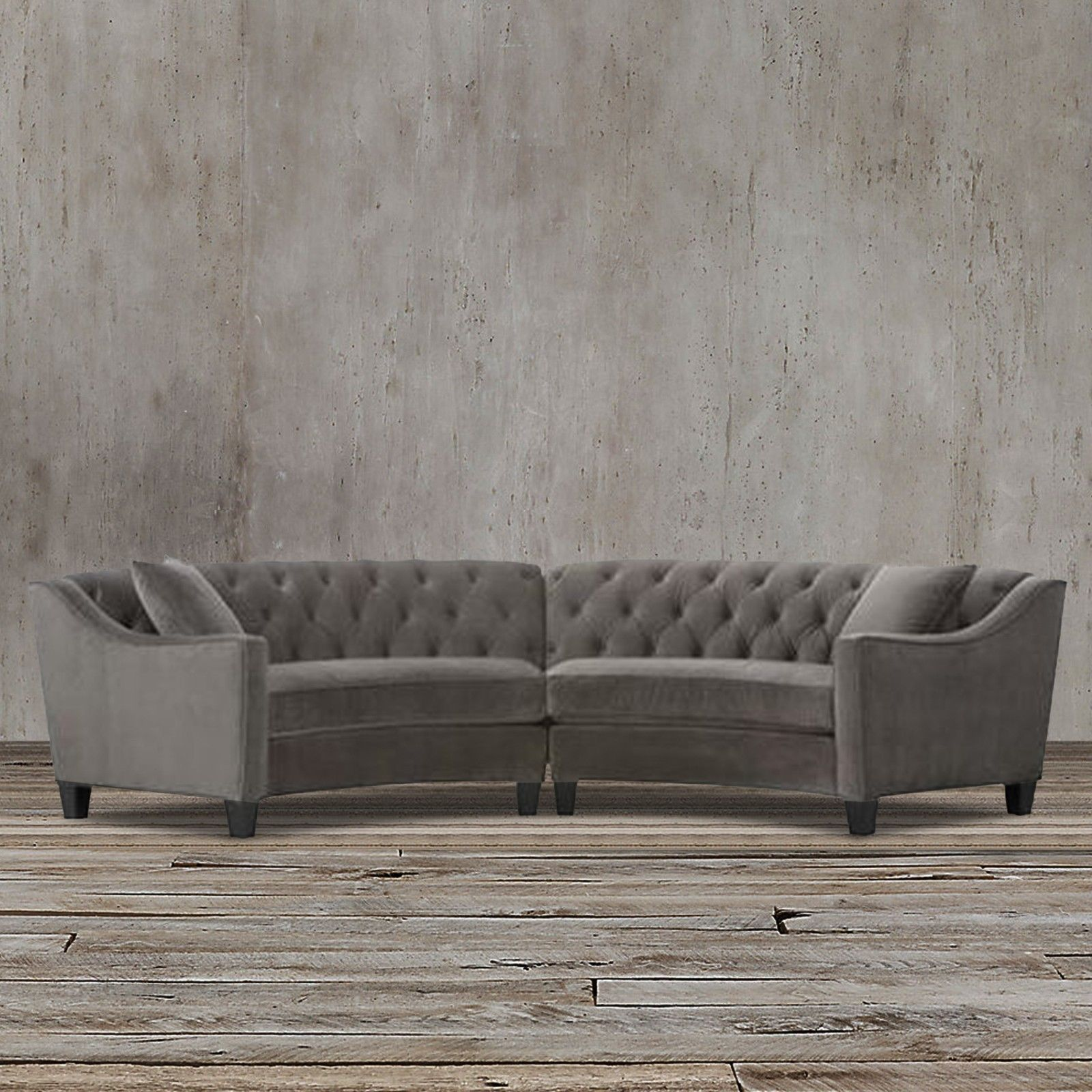 Assembled In The Usa This Gray Microsuede Sectional Sofa Is Very