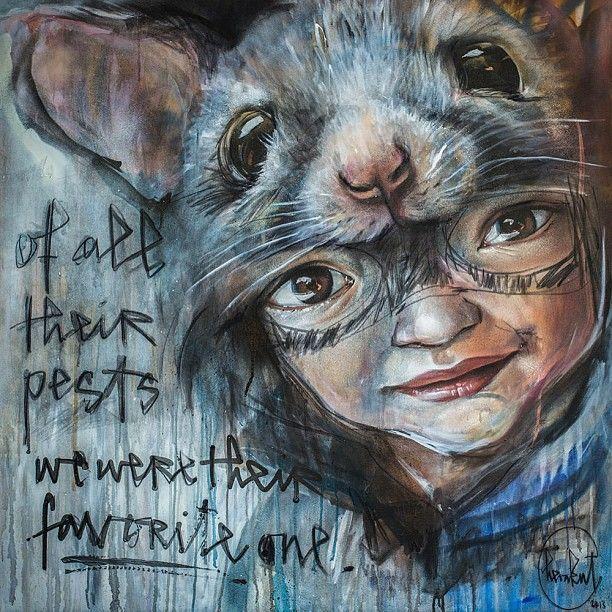 Of all their pests, we were their favorite ones #herakut #streetart #art #painting