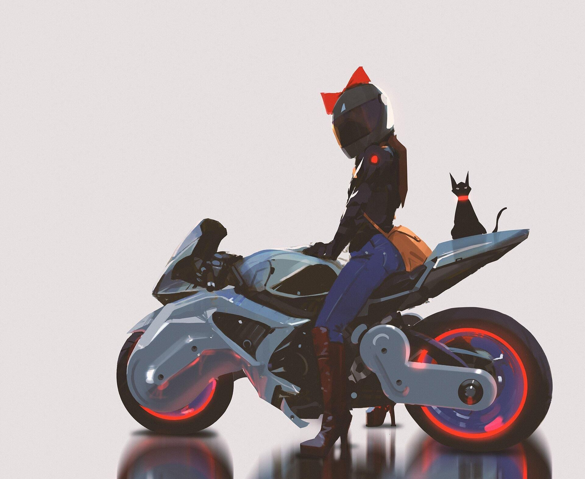 7607 Points And 110 Comments So Far On Reddit Anime Motorcycle