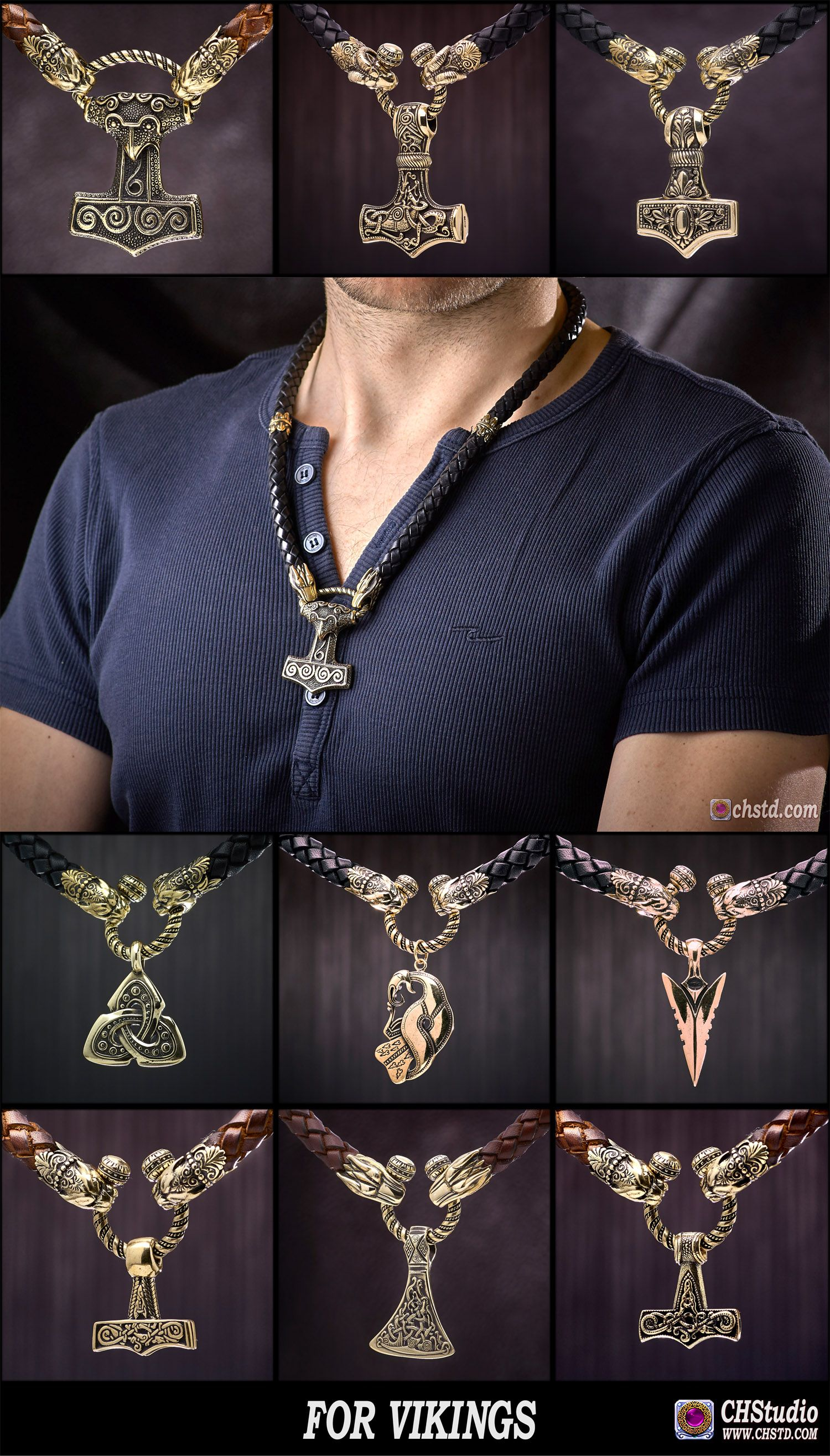 THOR'S HAMMER, MJOLNIR Skane - Leather Necklace With Bronze Heads - HANDMADE --------------- • Original Handcrafted Bronze Jewelry. • Purchase Now in Three-Clicks. • Safe Transactions With PayPal. • Worldwide Shipping With Tracking Number. • Perfect Quality - Beautiful Cut! • US,CA delivery 2-7 days • EU,AU,NZ delivery 5-15 days • Worldwide delivery 15-30 days #mjolnir #axe #norse #viking #triquetra #pendant #bronze #leather #handcrafted #craft #handmade