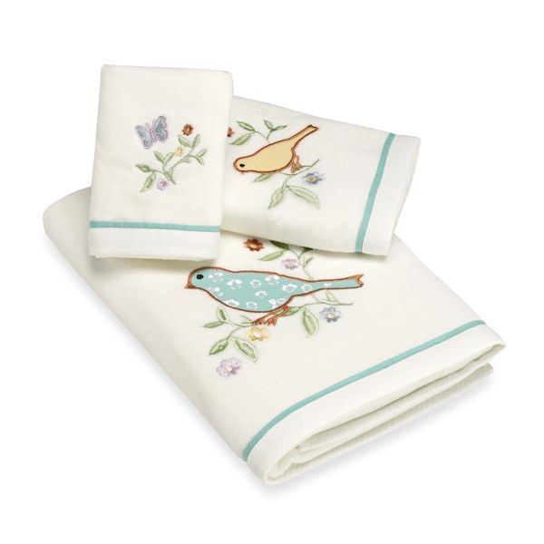 Laura Ashley Birds And Branches Bath Towels, 100% Cotton