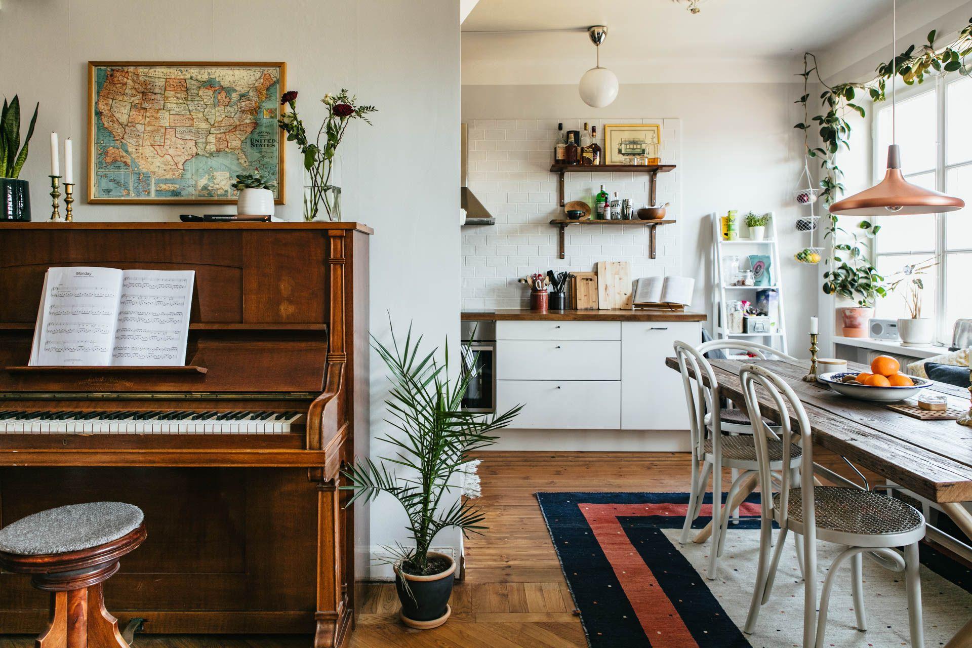 Dit eclectische interieur biedt genoeg (vloerkleed) inspiratie ...