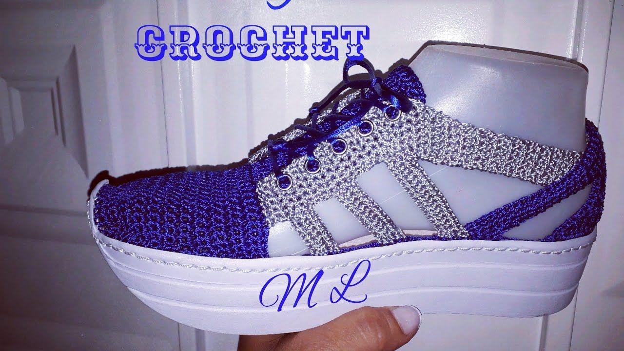 Regalo Día De Madres Zapato Tejido En Crochet Modelo Zativa
