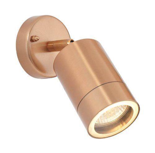Saxby ST5010C Modern Outdoor Garden Adjustable Wall Spot Light Copper 35W GU10 I