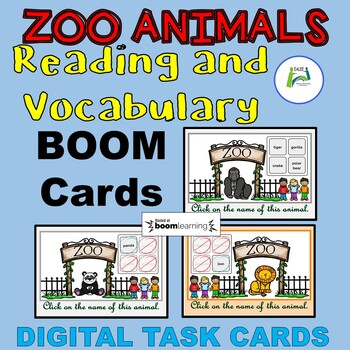 Zoo Animals Reading and Vocabulary BOOM interactive