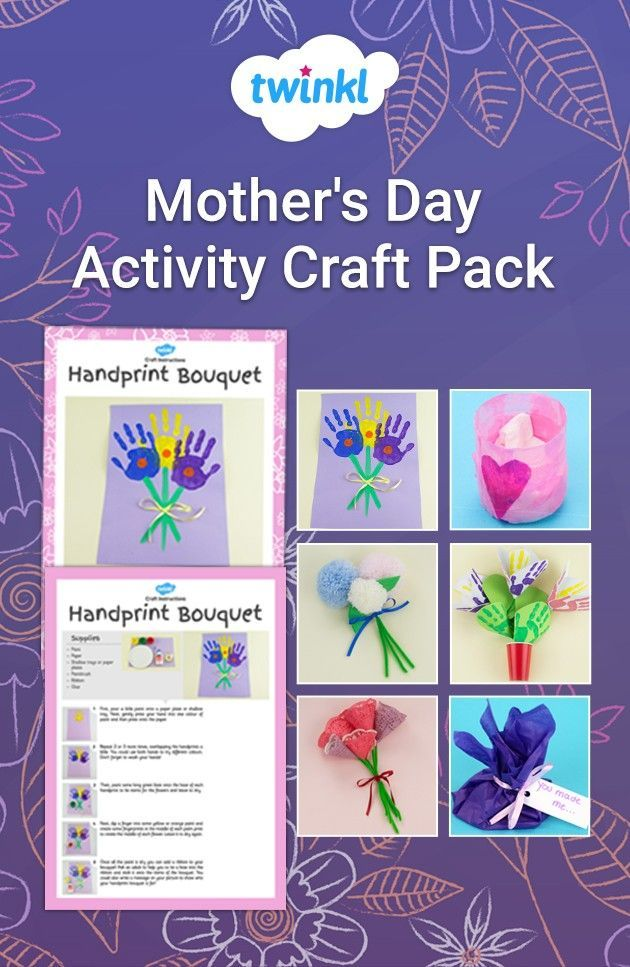 Mother's Day is the perfect time to show love and appreciation to all the hard-working mums! Use this craft activity pack to keep your children engaged and create beautiful handcrafted gifts. Download from the Twinkl website and discover many more handy crafts and worksheets! #mothersday #mothersdaycrafts #craftpack #mothersdayactivity #mothersdaygifts #cards #bouquets #crafts #twinkl #twinklresources #spring #activity #school #teaching #craftsforkids #homeed #homeeducator #parents #papercraft