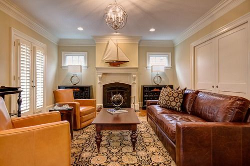 How to Design a Living Room with Brown Leather Sofa | Home ...