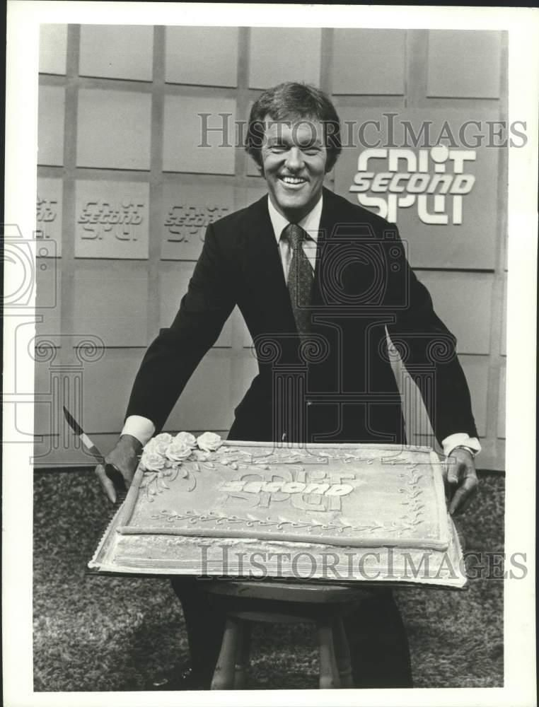 1973 Press Photo Tom Kennedy Host Of The Game Show Split Second With Cake Ebay Link Press Photo Game Show Photo